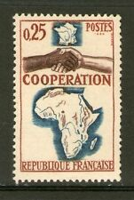 TIMBRE 1432 NEUF XX - COOPERATION - CARTES DE L'AFRIQUE ET DE MADAGASCAR