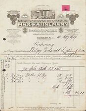 BERLIN, N., Rechnung 1917, Fabrik medizinischer Verbandstoffe Max Kahnemann