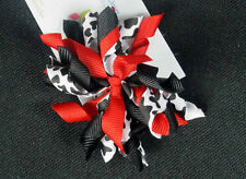 """3"""" RedCouture Cow Korker Hair Bows (Handmade)"""