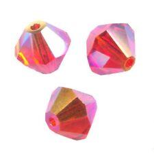 15 Perles Toupies 4mm Cristal Swarovski  - FIREOPAL AB2X