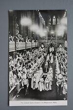 R&L Postcard: HM Queen Elizabeth II, Crowned at Westminster