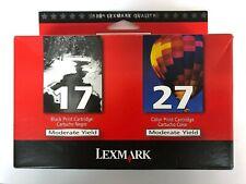 Lexmark 17 27 Set of Black and Color Ink Cartridges New