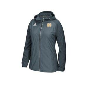 Notre Dame Fighting Irish NCAA Women's Onix Grey Modern Varsity Woven Jacket