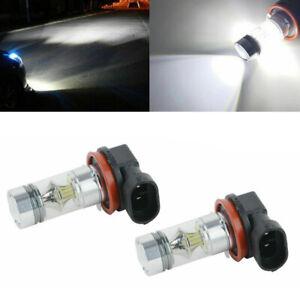 2pcs H11 H8 LED Ampoules Voiture Brouillard Lumière 100W Conduite DRL Blanc MS