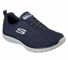 Skechers Shoes Navy Memory Foam Women Slipon Sport Casual Knit bungee Lace 12822