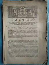 FACTUM 1733 Philippe de La TOISON baron de BUSSY, Verrey-sous-Drée (Côte d'Or)