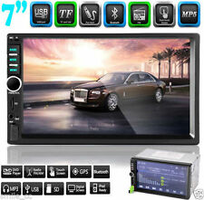 """7"""" Double 2Din In Dash Stereo Car MP5 Player Bluetooth Touch Radio FM Aux + Cam"""