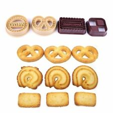4Pcs Square Round Cookie Biscuit Cutter Set Bread Fondant Cake Mold Baking Tool