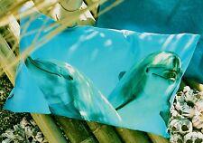 Kissen Kissenhülle Delfin Flip 40x60 maritim blau türkis Wasser Proflax