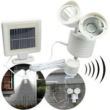 22 LED Solar Powered PIR Motion Sensor Security Light Garden Garage Outdoor Lamp