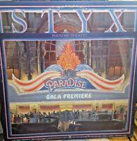 Styx ~ Paradise Theatre 1981 Vinyl LP Record Album Etched SP-3719