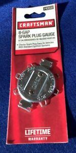 "NOS Craftsman 6-Gap Spark Plug Gauge (.025"" to .045""), Made in USA - # 40816"