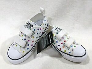Converse Toddler Girl's CT 2V OX White/Multi Sneakers-Sz 5/6/7/8/9/10 NB 770688F