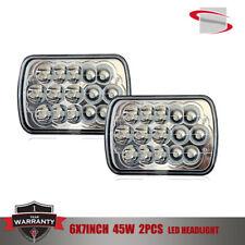 """7""""X6"""" 45w LED HID  Light Bulbs Clear Sealed Beam Crystal Headlight Headlamp PAIR"""
