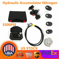 3500PSI Hydraulic Nitrogen Accumulator Charging System and Pressure Test Kit