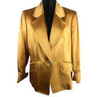 NWT $448 Ellen Tracy Gold Single Button Jacket Women's Size 12