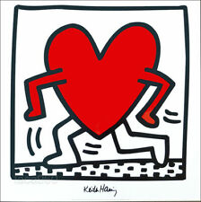 Keith HARING Untitled Heart Offset Lithograph Print 27-1/2 x 27-1/2