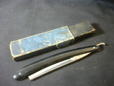 Old Vtg Collectible JR Torrey Straight Razor W/Box Worchester MA USA