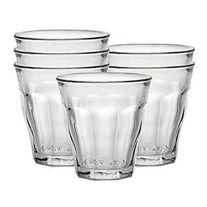 Duralex Made In France Picardie Clear Tumbler, Set of 6, 4-5/8  Assorted Sizes