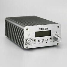 NEW 1W/6W FM Transmitter Long Range Stereo Broadcast Station PLL LCD Display