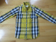 BURBERRY CHILDREN Boys Yellow/Blue Checkered Shirt Size 12Y