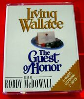 Irving Wallace The Guest Of Honour 2-Tape Audio Book Roddy McDowall Thriller