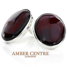 Baltic Amber Clip on Earrings 925 Silver Handmade - CL056  RRP £135