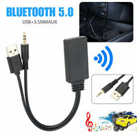 Car AUX Bluetooth 5.0 Audio Receiver USB + 3.5mm Jack Stereo Audio For Speaker