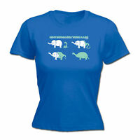 Funny Novelty Tops T-Shirt Womens tee TShirt - How Dinosaurs Were Made