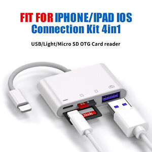 4in1 to USB Camera SD Memory Card Reader Adapter Fit for iPhone iPad IOS Adapter
