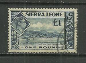 (W317) Sierra Leone – George 6th 1938 £1 Used