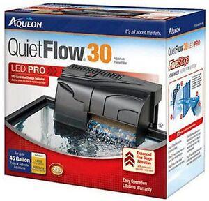AQUEON QUIET FLOW 30 POWER FILTER FOR AQUARIUMS. 200 GPH.
