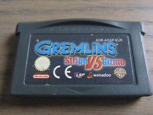JEU NINTENDO GAMEBOY ADVANCE GREMLINS STRIPE VS GIZMO GAME BOY