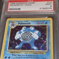 1999 Base Set Poliwrath Holo #13 Pokemon PSA 9 MINT
