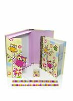 Mousehouse Owl Design Boxed Children's Notebook Stationery Gift Set Medium