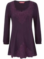 Together ladies tunic top blouse plus size 20 22 24 28 30 32 berry embroidered