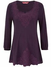 Together Ladies Tunic Top Blouse Plus Size 20 22 24 28 30 32 Berry Embroidered 30