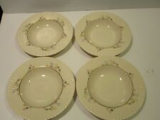 Lenox Rutledge Set 4 Soup Bowls, Multicolor Retro Flowers, Gold Tone