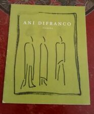 Ani DiFranco, publicity booklet for her poetry book Verses, unobtainable