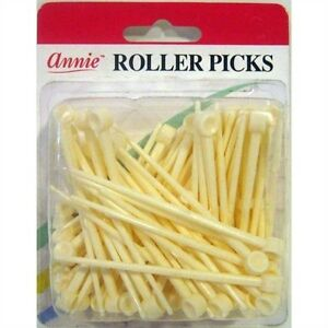 "Annie Plastic Roller Picks Pins Hair Roller Curler Rods Fixer Holds 3"" #3199 1pk"