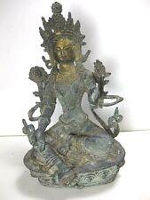 Early Bronze Or Brass Sitting Tara Buddha Statue
