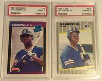 1989 *KEN GRIFFEY JR.* Graded Rookie Lot- Donruss #33 PSA 9 & Fleer #548 PSA 8