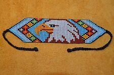 Handmade Glass Seed Bead Loom Work Eagle Bracelet, Colombian Beadwork - Colombia