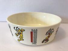 Vtg MOUSERCISE Plastic Bowl Walt Disney Productions Mickey Minnie Goofy Pluto