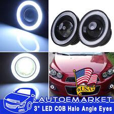 2X 3inch 2400Lm Round White Angel Eye Halo LED Projector Fog Light 4X4 ATV Truck