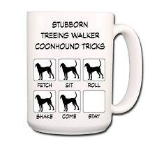 Treeing Walker Coonhound Stubborn Tricks Extra Large 15oz Coffee Mug
