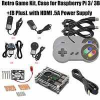 Retro Game Kit With HDMI Cable 5A Power Supply for Raspberry Pi 3/ 3B+(B Plus)