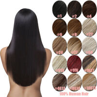 "Human Hair Clip in Extensions Full Head 7pcs/set 18"" 70g 100g Blonde Brown"