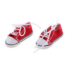 Prettyia Casual Sneakers Flats Canvas Shoes For 12inch Neo Blythe Dolls Red