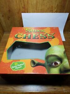 Dreamworks Shrek Chess Board Game Replacement Box ~ Box Only